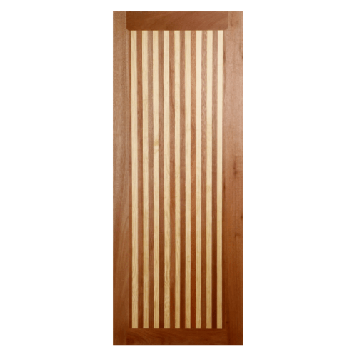 BEST ประตูไม้สยาแดง  ขนาด 90x200 cm. GL-01