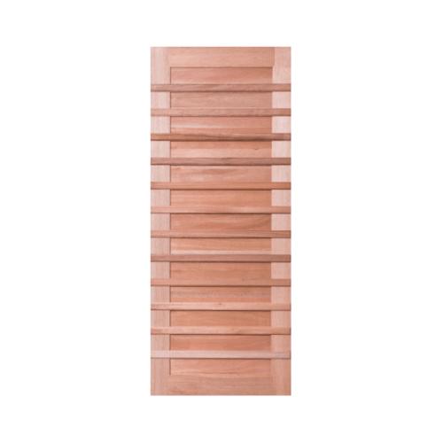 BEST ประตูไม้สยาแดงบานทึบ  ขนาด 105x206cm.ฺ  GS-59