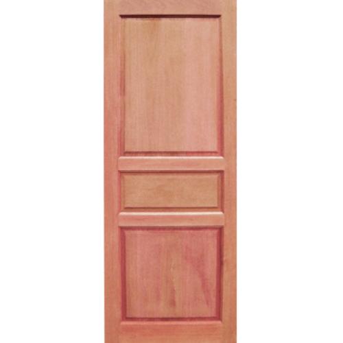 BEST ประตูไม้สยาแดง  80x200cm.ทำสี   GS-40