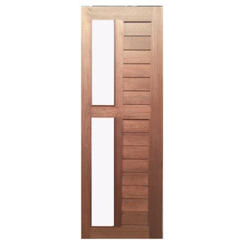 BEST ประตูไม้สยาแดงกระจก   ขนาด 80x240cm.