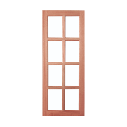 BEST ประตูไม้สยาแดงกระจกใส ขนาด 45x220cm. GS-48