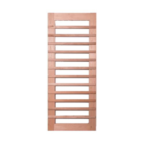 BEST ประตูไม้สยาแดงกระจกใส  ขนาด 90x220cm.(ทำสี) GS-59