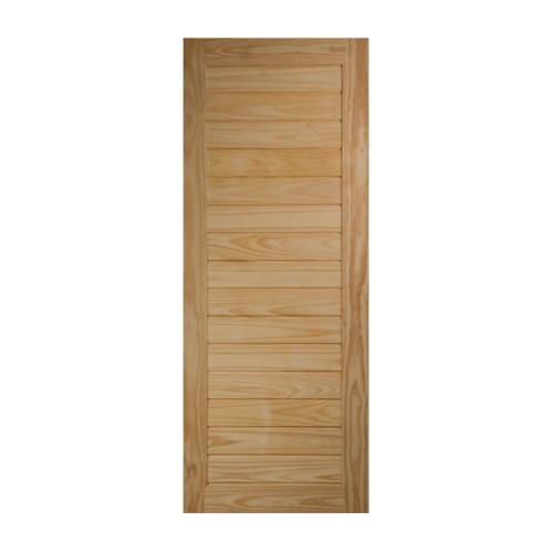 BEST ประตูไม้สน ขนาด80x180cm.  GS-52s