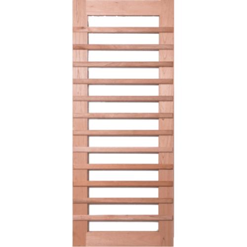 BEST ประตูไม้สยาแดง  100x200cm.  GS-59