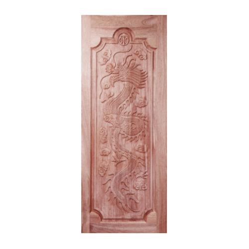 BEST ประตูไม้สยาแดง ขนาด 80x200cm.ทำสี GC-17