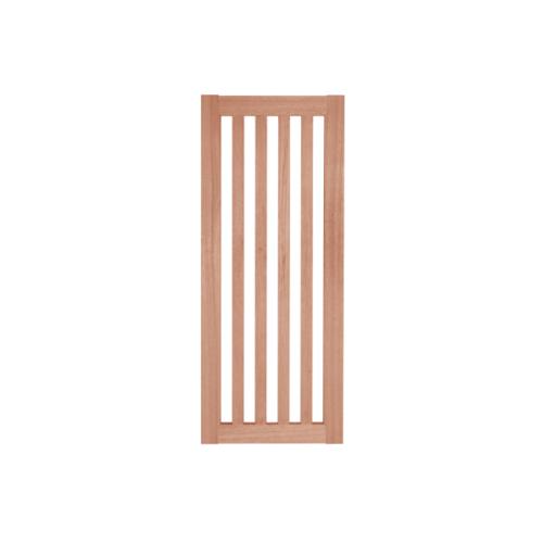 BEST ประตูไม้สยาแดงพร้อมกระจกใส  80x220 ซม. GS-46