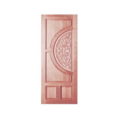 BEST ประตูไม้สน บานทึบลูกฟักแกะลาย  90x200cm.  GC-09