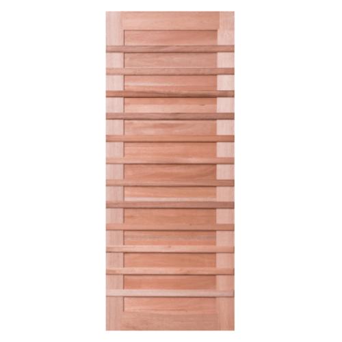 BEST ประตูไม้สยาแดง บานทึบทำช่อง  100x240cm. ทำสีโอ๊ค  GS-59