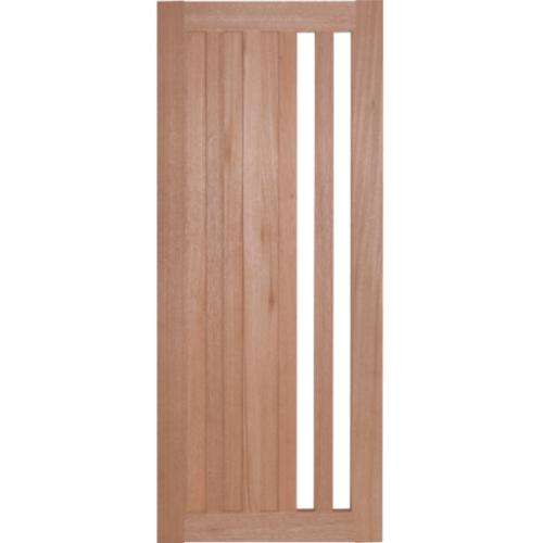 BEST ประตูไม้สยาแดง ทำช่องพร้อมกระจกฝ้า 120x240cm.  GS-47