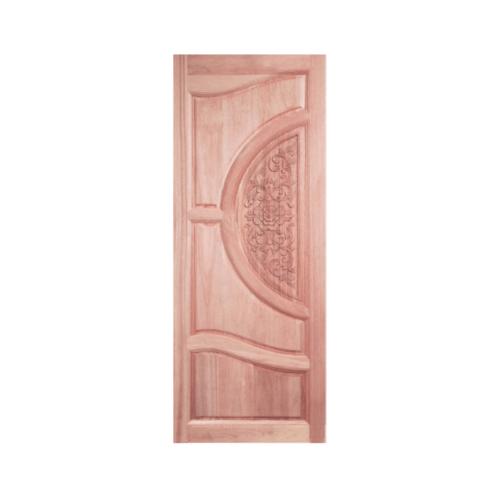 BEST ประตูไม้สยาแดง บานทึบลูกฟักแกะลาย 80x210cm.  GC-07