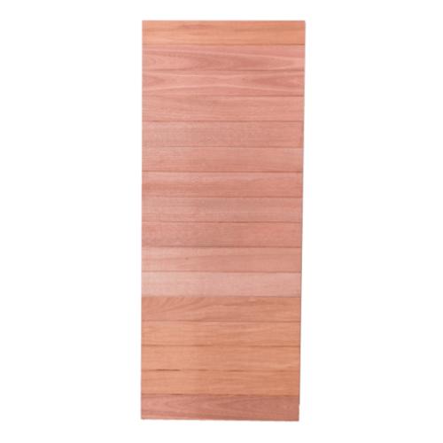 BEST ประตูไม้สยาแดง บานทึบทำร่อง  90x200cm. ทำสี  Ternd-01