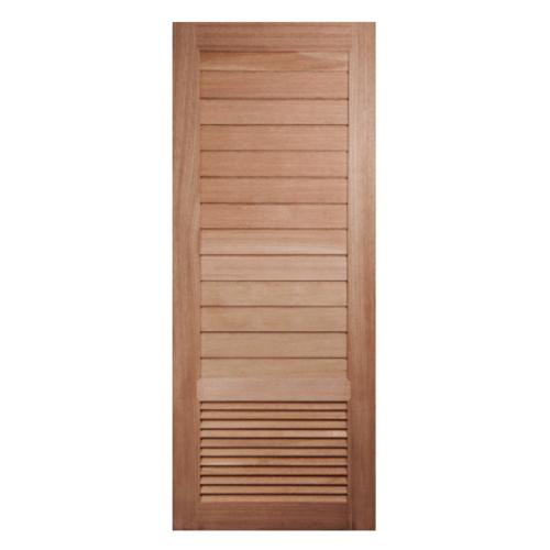 BEST ประตูไม้สยาแดง บานทึบทำร่อง เกล็ดล่าง 100x200ซม.  GS-21
