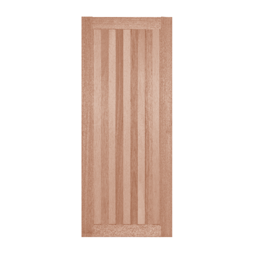 BEST ประตูไม้สยาแดง บานทึบทำร่อง ขนาด 70x200ซม.  GS-46