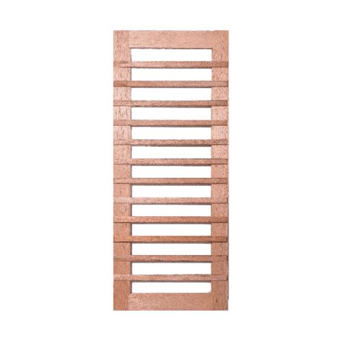 BEST ประตูไม้สยาแดง ทำช่องพร้อมกระจกใส ขนาด 90x230ซม. GS-59