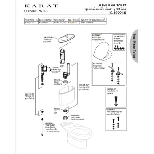 karat ชุดฝารองนั่ง K-608 สีขาว