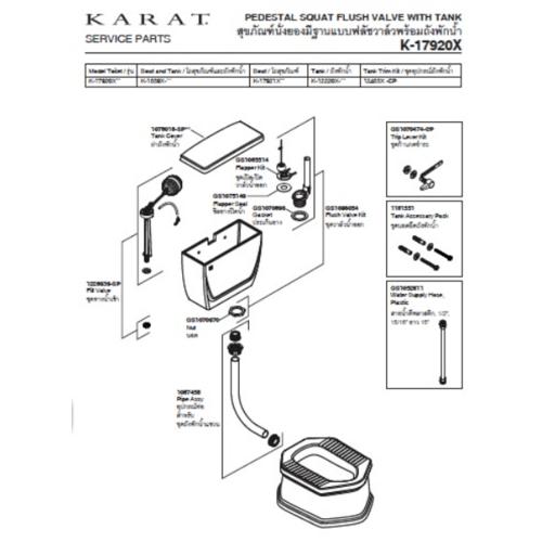 KARAT อุปกรณ์หม้อน้ำK-812