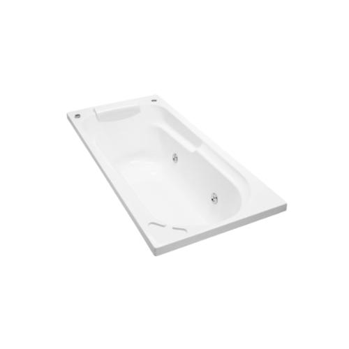 karat อ่างอาบน้ำระบบน้ำวน  รุ่นซอเรนโต้ (มีกันลื่น พร้อมสะดืออ่างแบบป๊อปอัพ) K-18761X-WK สีขาว