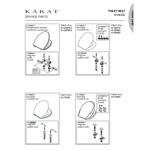 karat ชุดหูฝารองนั่งสเตนเลส K-759 สีขาว