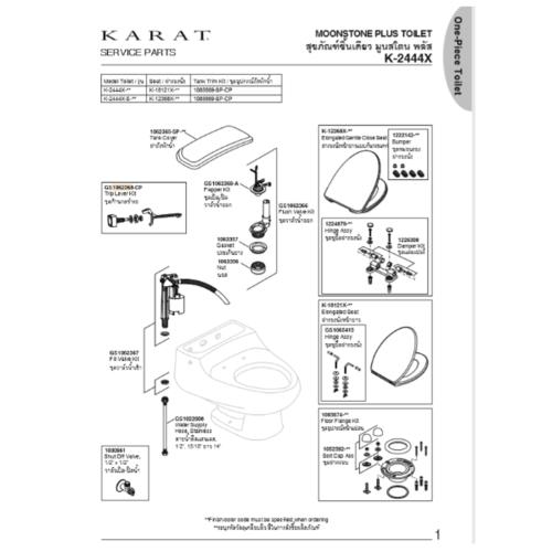 karat ปุ่มกดโถสุขภัณฑ์  K-731C สีขาว