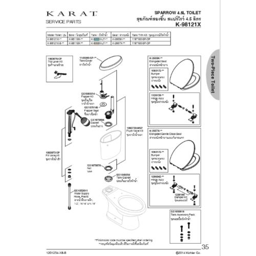 karat หม้อน้ำ เจ็ทสตาร์ พลัส 6358X-LT-WK สีขาว