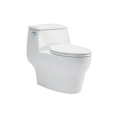 KARAT สุขภัณฑ์ชิ้นเดียว รุ่น มูนสโตน ทู 4.5 ลิตร พร้อมฝารองนั่งแบบกันกระแทก (ออกกำแพง) K-72479X-SP-WK   ขาว