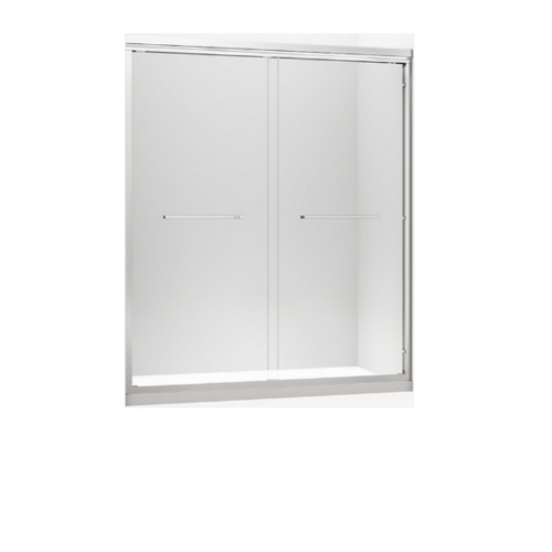 KOHLER ฉากกั้นบานเลื่อน สีเงิน กระจกเคลือบ พาราเรล ขนาด 1100 x 1850 มม. K-36962X-CR1-SHP