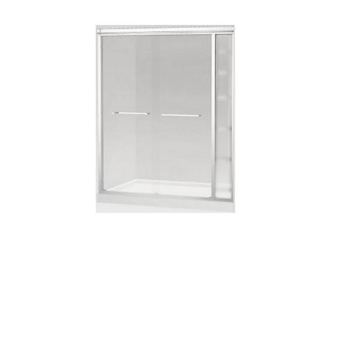 KOHLER ฉากกั้นบานเลื่อนพร้อมชั้นวางของสีเงินกระจกเคลือบ พาราเรลK-36963X-CR1-SHP ขนาด1400x1850มม.