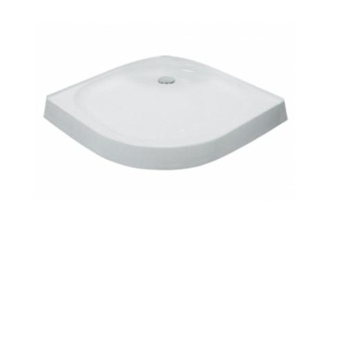 KOHLER ถาดรองอาบน้ำแบบโค้งสีขาว พร้อมสะดือน้ำทิ้ง K-17226X-DR-0 สีขาว