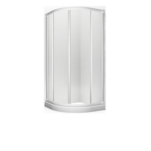 KOHLER ตู้อาบน้ำบานเลื่อนโค้งกระจกเคลือบนาทีโอ K-98641X-C-0 สีขาว