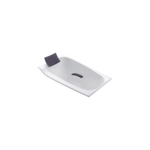 KOHLER อ่างอาบน้ำอะครีลิค รุ่นคิวมูลัส 1300 หมอนเทา K-45598X-GR58-0  ขาว