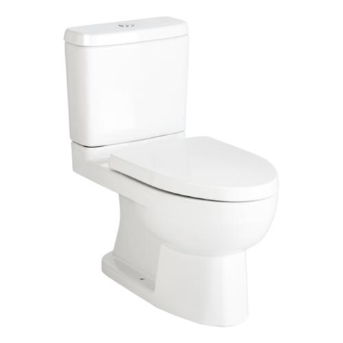 KOHLER สุขภัณฑ์แบบสองชิ้น ใช้น้ำ 3/4.5 ลิตร พร้อมฝารองนั่งแบบกันกระแทก รีช คอนซีล สีขาว