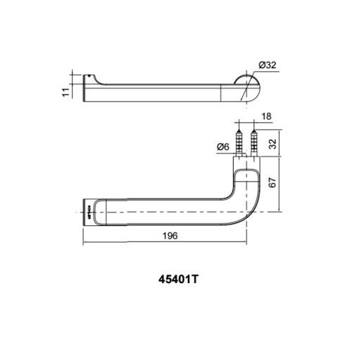 KOHLER ห่วงแขวนผ้า July  K-45401T-CP สีโครเมี่ยม