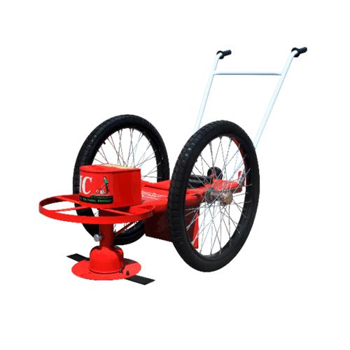 โครงรถตัดหญ้าพร้อมอุปกรณ์ ล้อยางลม ไม่รวมเครื่องยนต์ รถตัดหญ้า-ล้อลมใหญ่ แดง
