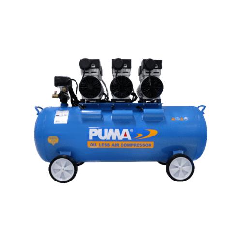 PUMA ปั๊มลมไร้น้ำมัน 100L  PS-40100B สีน้ำเงิน