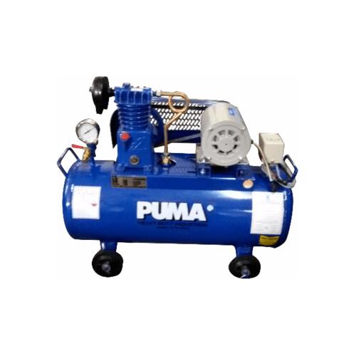 PUMA ปั้มลมสายพานพร้อมมอเตอร์ 36 ลิตร 220 โวลต์ PP1-WM น้ำเงิน-เทา