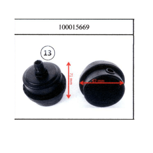 อะไหล่-หม้อกรอง ปั๊มลมเงียบ OS-25,50,90L. 39 PUMA   ดำ