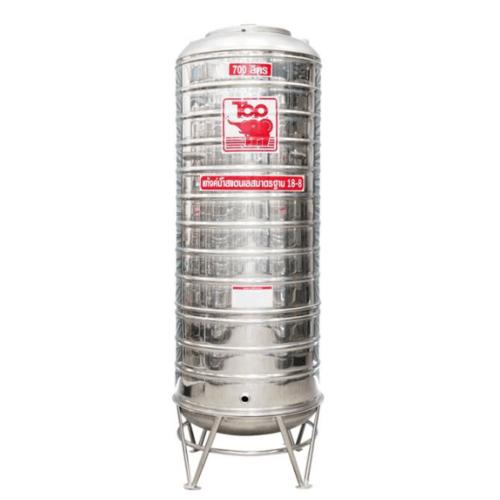 นิว ท็อป เวิลด์ ถังเก็บน้ำสแตนเลสช้างแดง TRH - 700L สีโครเมี่ยม