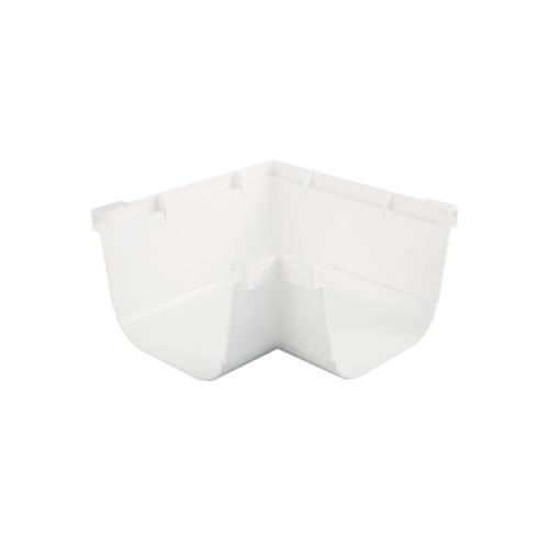 ครอบมุมรางน้ำฝน90 องศา Deluxe สีขาว - ขาว