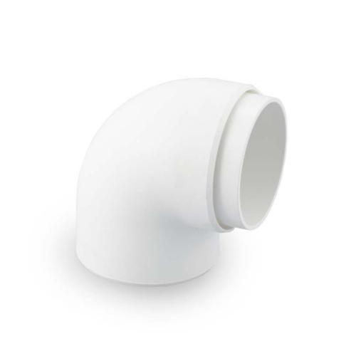 SCG ข้องอรางน้ำฝน 90 องศา (กลม) DELUXE&SMART สีขาว