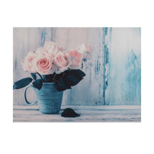 NICE รูปภาพพิมพ์ผ้าใบ Flower Pot ขนาด  70x50 ซม. (ก.xส.) (กุหลาบชมพูในแจกัน) C7050-21