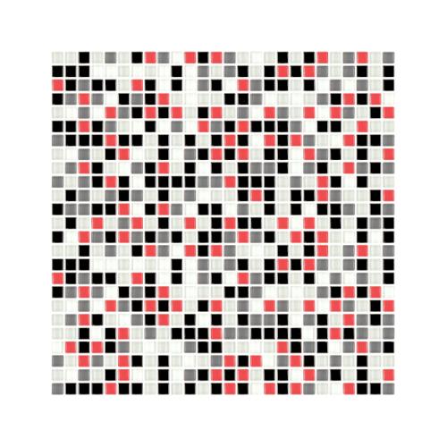 Duragres GL-859 Red Black โมเสคแก้ว