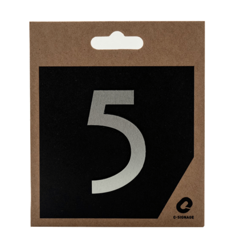 C Signage ป้ายอลูมิเนียม (ตัวเลข 5 )แบบด้าน  CSLS-A 1005