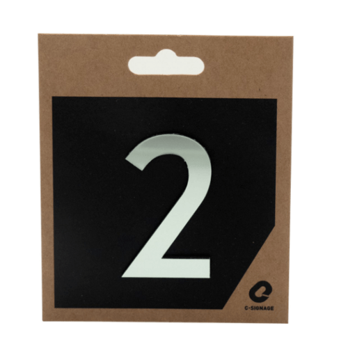 C Signage ป้ายอลูมิเนียม  ตัวเลข 2  แบบเงา CSLS-H 1002
