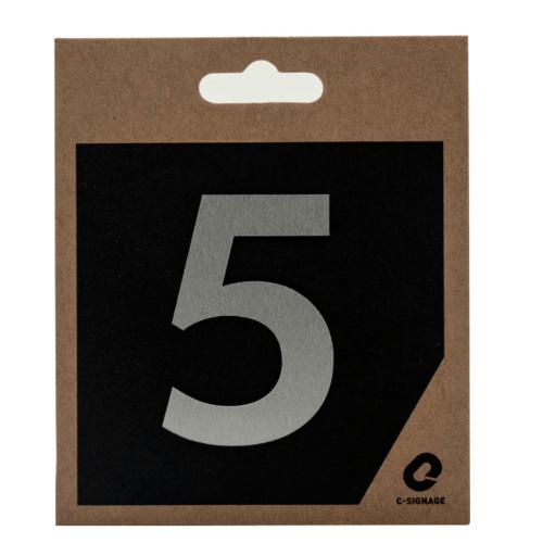 C Signage ป้ายอลูมิเนียม  (ตัวเลข 5)แบบด้าน  CSLS-A 2005