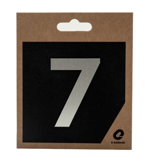 C Signage ป้ายอลูมิเนียม (ตัวเลข 7) (ด้าน)   CSLS-A 2007