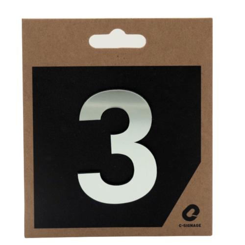 C Signage ป้ายอลูมิเนียม (ตัวเลข 3) (แบบเงา)  CSLS-H 2003