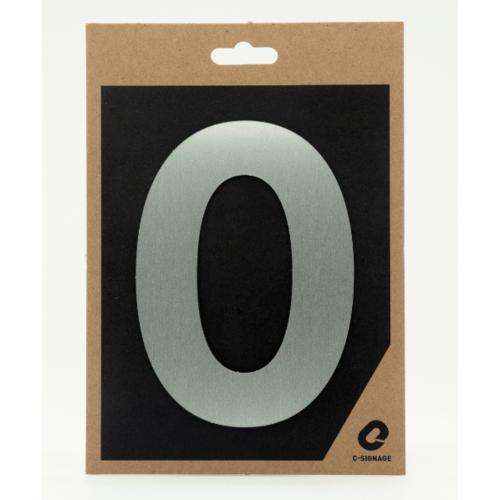 C Signage ป้ายอลูมิเนียม (ตัวเลข 0)แบบด้าน A1000