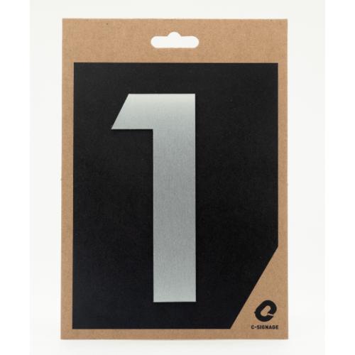 C Signage ป้ายอลูมิเนียม (ตัวเลข 1)แบบด้าน A1001