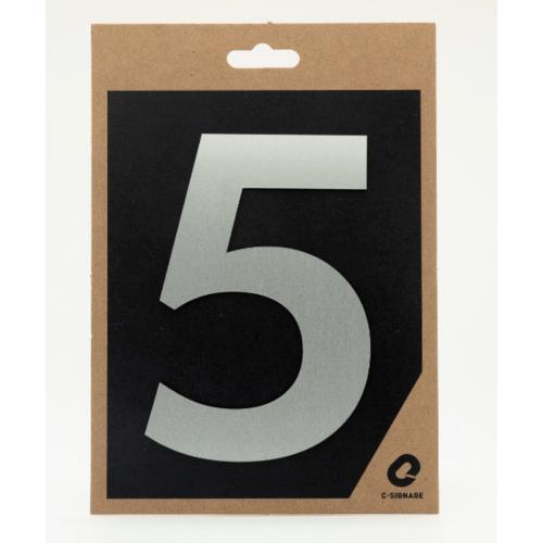 C Signage ป้ายอลูมิเนียม  (ตัวเลข 5)แบบด้าน A1005