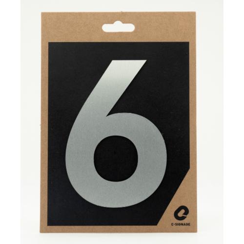C Signage ป้ายอลูมิเนียม  (ตัวเลข 6)แบบด้าน  A1006